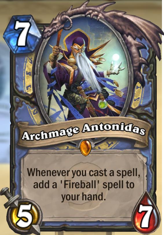 Archmage Antonidas Hearthstone Card