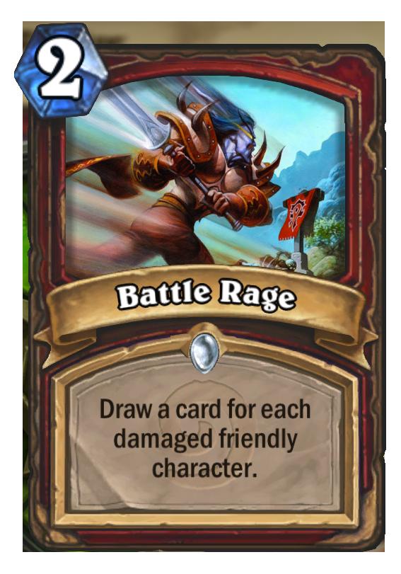 Battle Rage Hearthstone Card