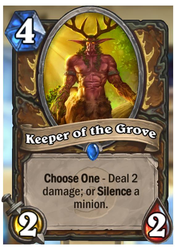 keeper of the grove hearthstone card