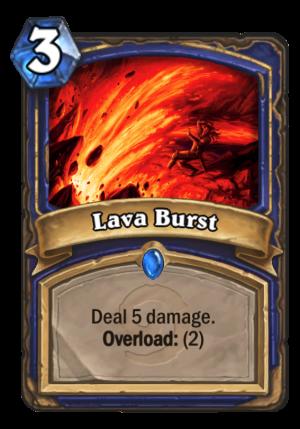 Lava Burst Card
