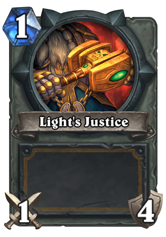 Light S Justice Hearthstone Card