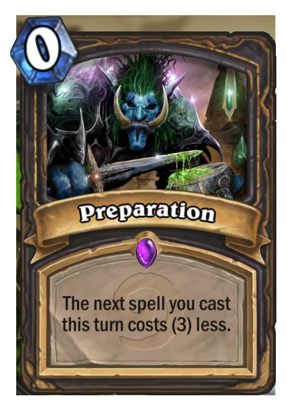 Preparation Hearthstone Card