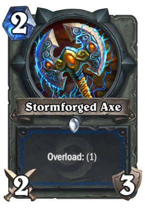 Stormforged Axe Card