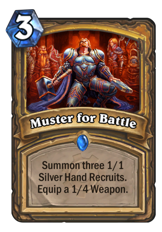 Muster For Battle Hearthstone Card