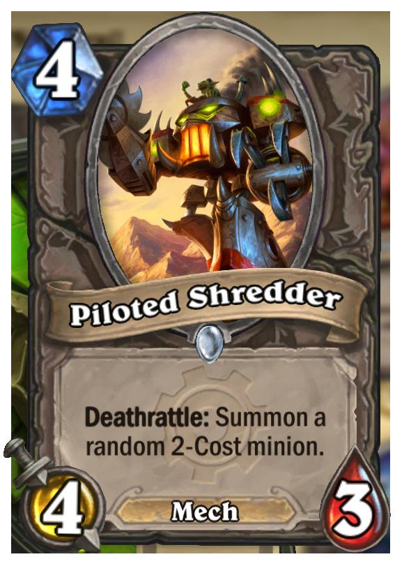 Piloted Shredder Hearthstone Card