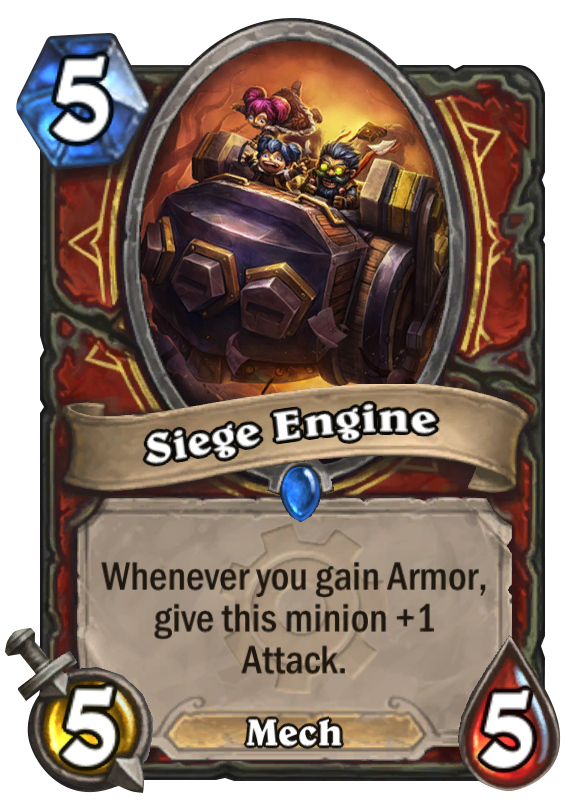 Siege Engine Hearthstone Card
