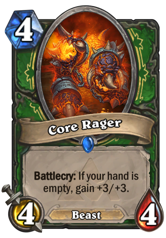 Core Rager Hearthstone Card