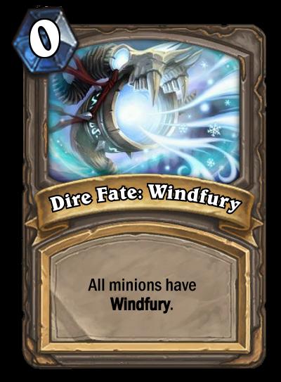 Dire Fate Windfury Hearthstone Card