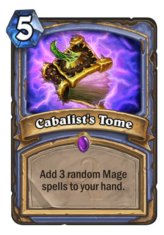 cabalists tome hearthstone card