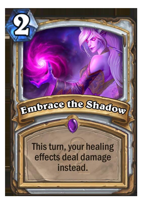 Embrace the Shadow - Hearthstone Card