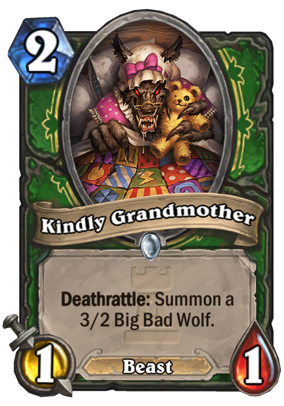 Kindly Grandmother Hearthstone Card