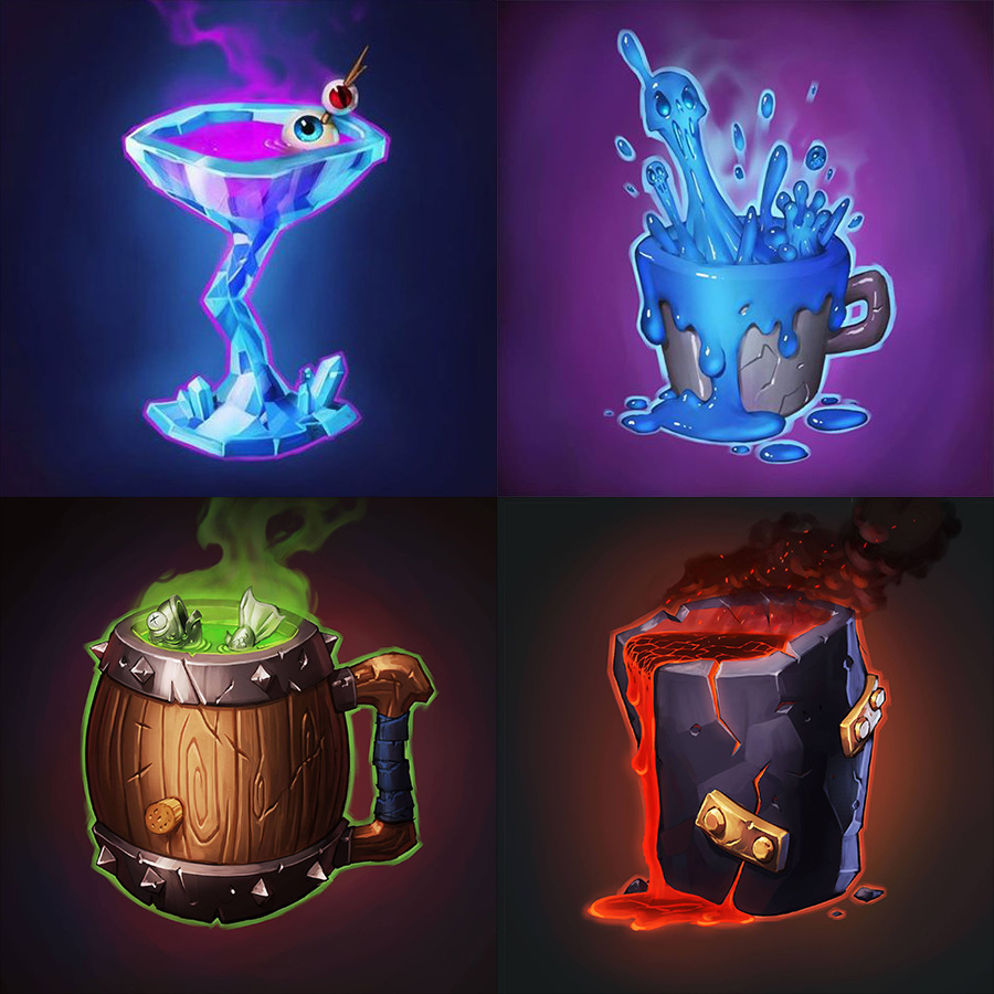 Four Different Drink Options Given by Talon
