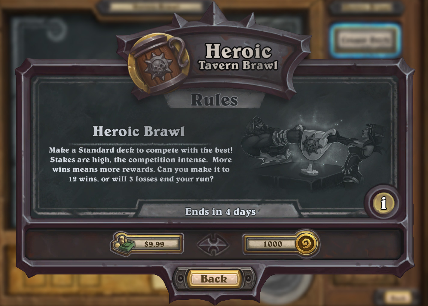 Heroic tavern brawl deck lists and information hearthstone top decks