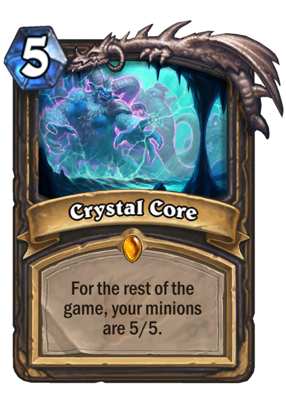 Crystal Core Hearthstone Card