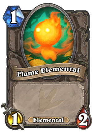 Flame Elemental Card