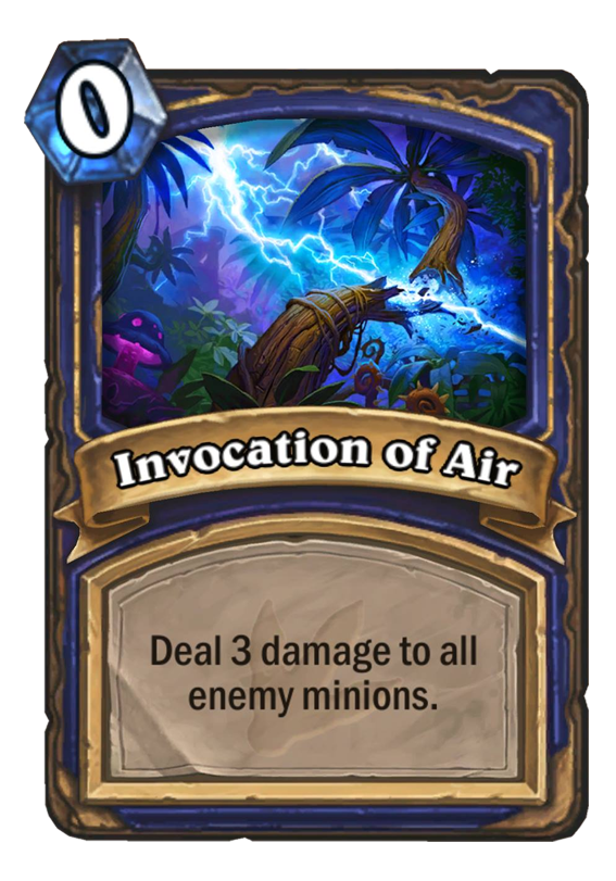 Invocation Of Air Hearthstone Card
