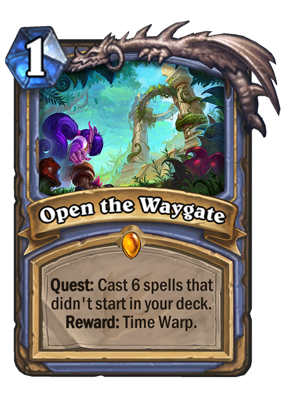 open the waygate hearthstone card