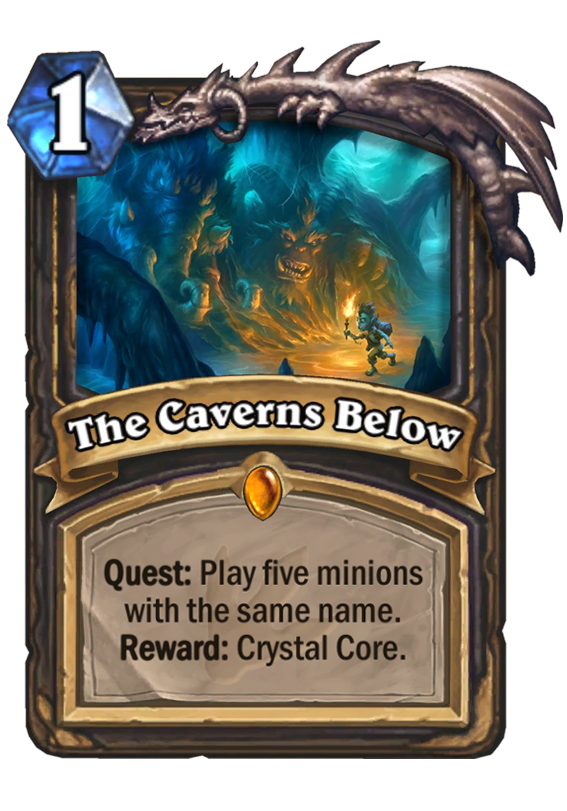 The Caverns Below Hearthstone Card