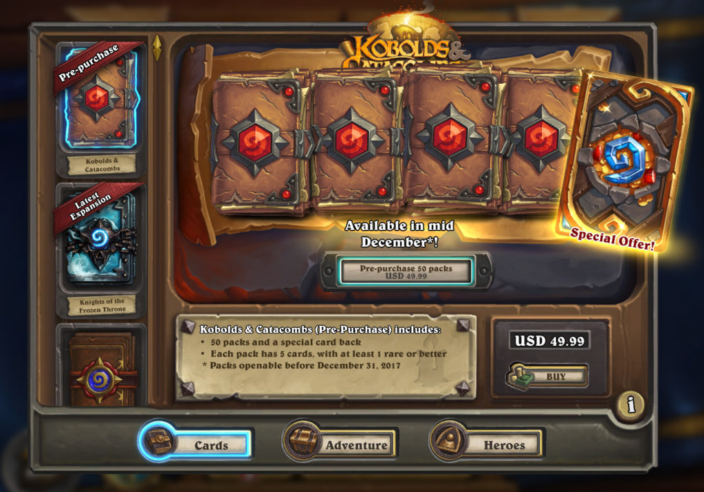 HEARTHSTONE PACKS AMAZON COINS PRICE