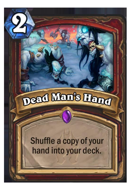 Dead ManS Hand Hearthstone