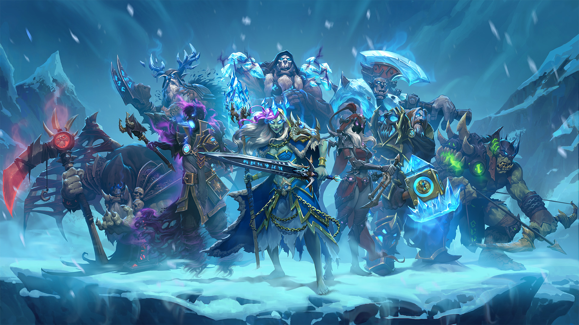 Group Of Wow Frozen Throne Wallpaper