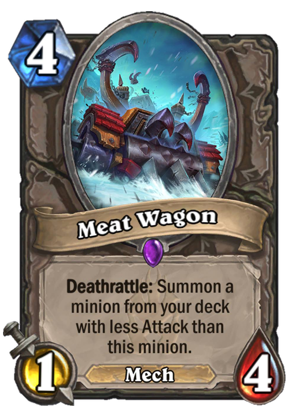 Meat Wagon Hearthstone Card