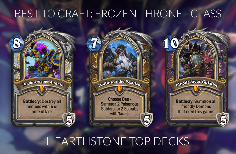 Best Crafted Cards Hearthstone