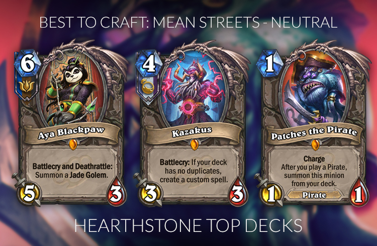 Hearthstone Best Neutral Cards To Craft