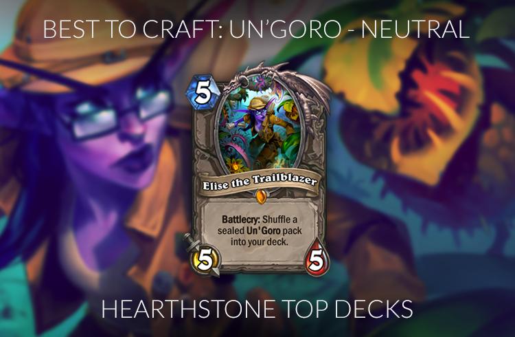 Best Hearthstone Legendary Cards To Craft Standard
