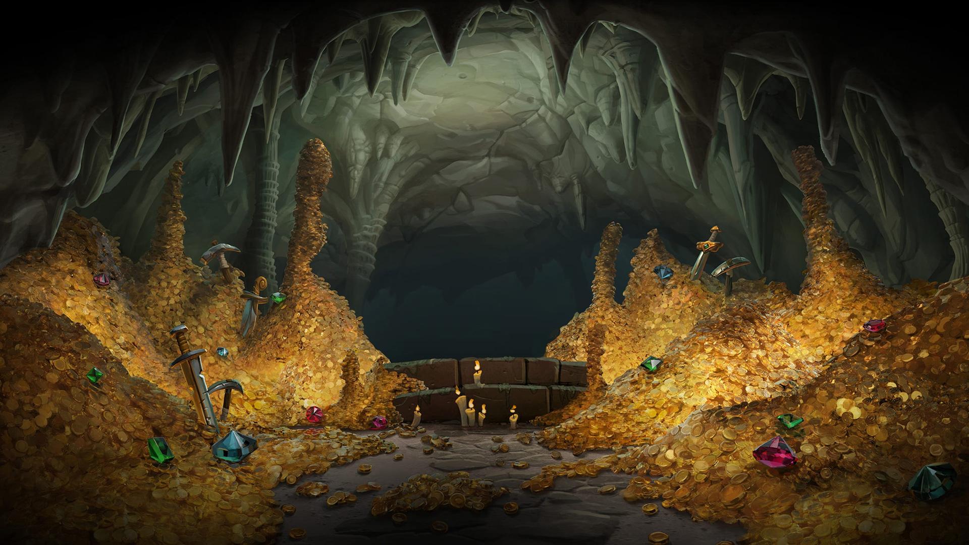 Creepy Treasures Key Art Wallpaper Gold Cave