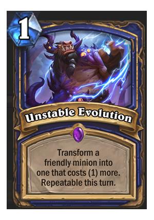 Unstable Evolution Hearthstone Card