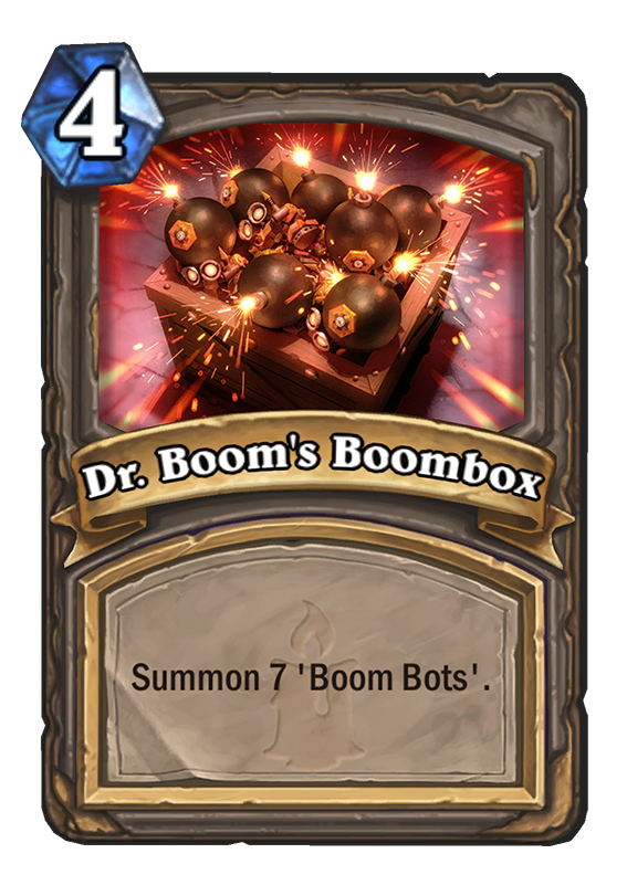 Dr Boom S Boombox Hearthstone Card