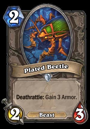Plated Beetle Card
