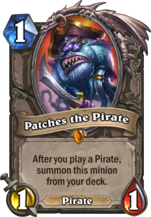 Patches the Pirate Card