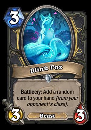 Blink Fox Card