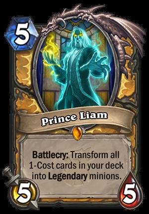 Prince Liam Hearthstone Card