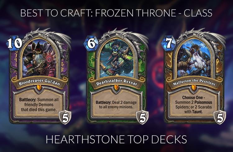 Hearthstone Frozen Throne Craft Guide