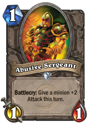 Abusive Sergeant Card