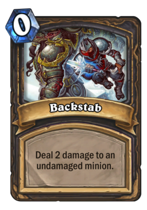 Backstab Card
