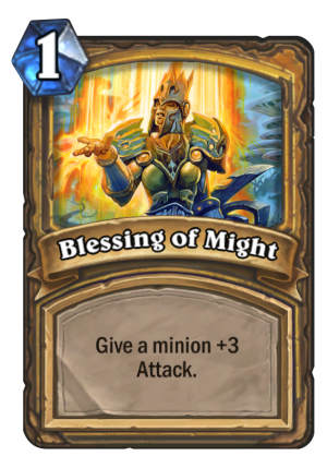 Blessing of Might Card