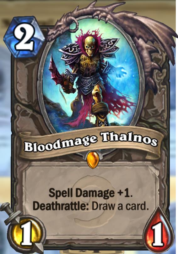Bloodmage Thalnos Hearthstone Card Hearthstone Top Decks