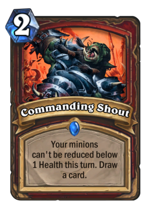Commanding Shout Card