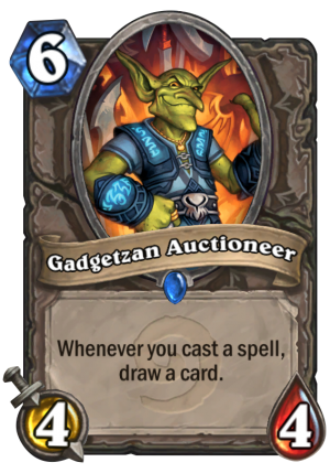 Gadgetzan Auctioneer Card