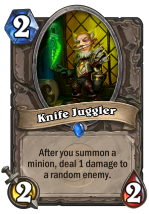 Knife Juggler Card