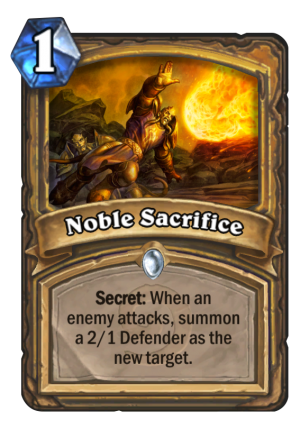 Noble Sacrifice Card