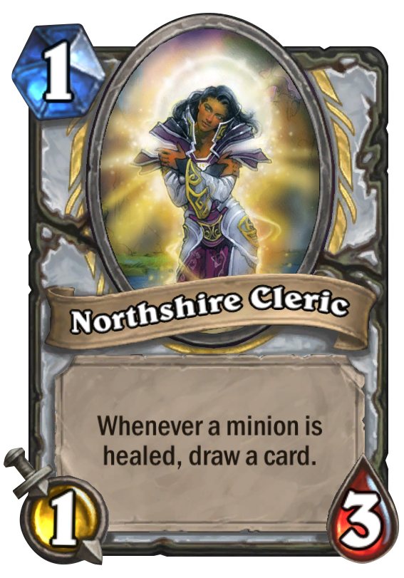 Northshire Cleric Hearthstone Card Hearthstone Top Decks