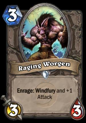 Raging Worgen Card