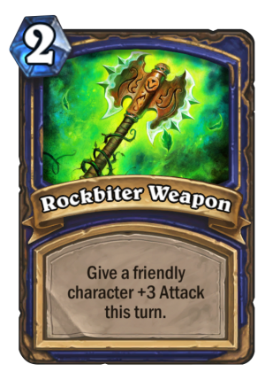 Rockbiter Weapon Card