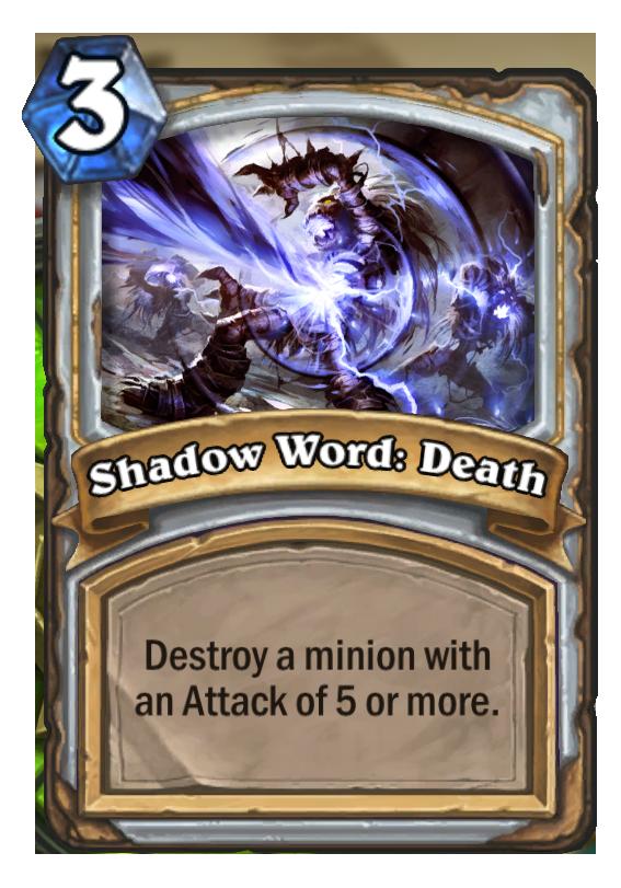 Shadow Word Death Hearthstone Card Hearthstone Top Decks