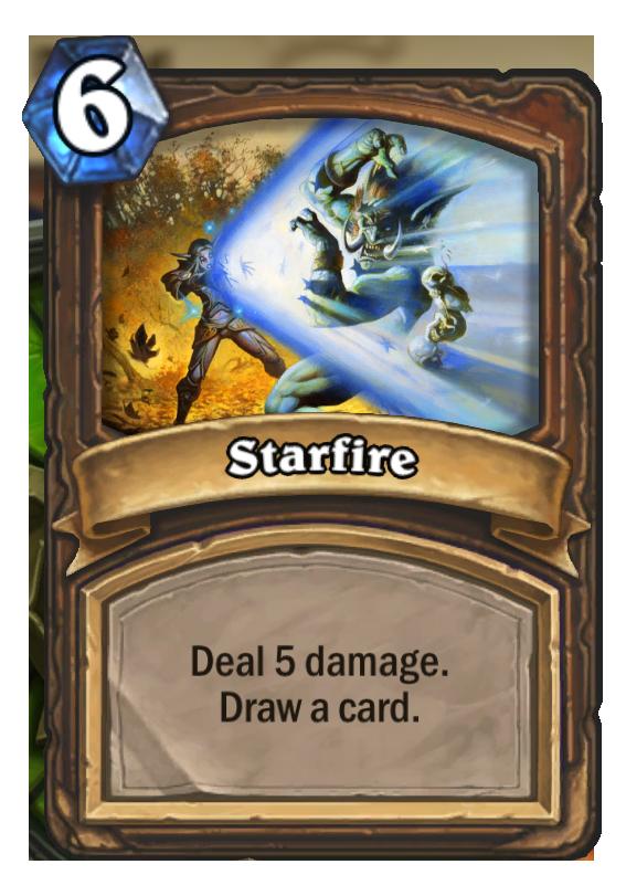 Starfire Hearthstone Card Hearthstone Top Decks